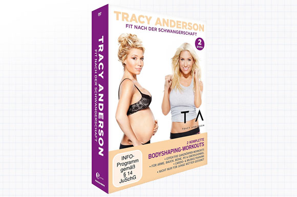 "DVD-Box ""Tracy Anderson - Fit nach der Schwangerschaft"" mit 2 kompletten Bodyshaping-Workouts"