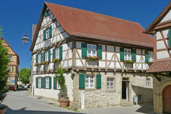 Friedrich Schiller's birthplace is located in the historic old town of Marbach.