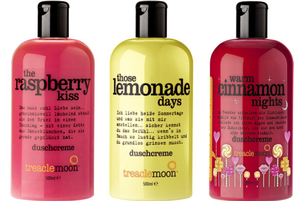 treaclemoon Duschcremes gibt es u.a. als treaclemoon the raspberry kiss, treaclemoon those lemonade days und treaclemoon warm cinnamon nights.