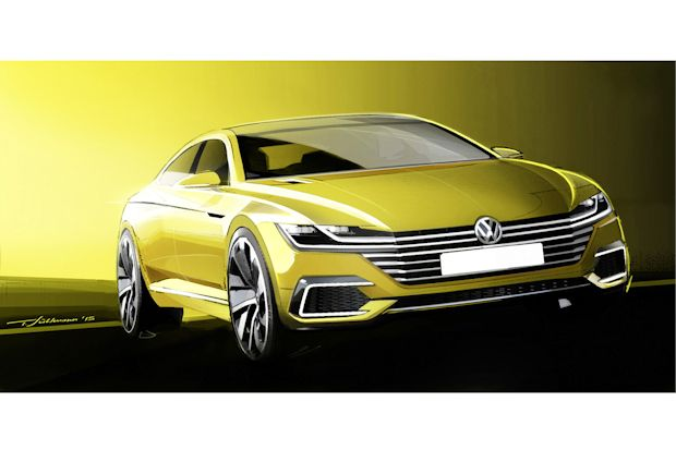 VW Sport Coupé Concept GTE - Hightech-Studie mit Plug-In-Hybridantrieb.