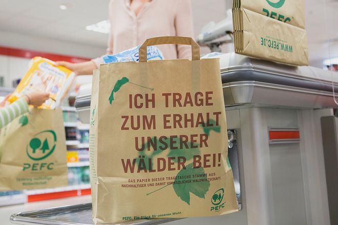 When shopping, paper bags should be used if there is a choice.  But please use it several times!