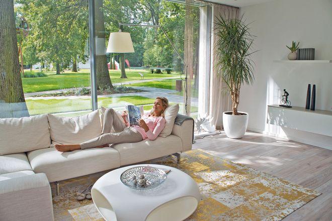 Große Glasfronten bringen viel Licht in die Räume.