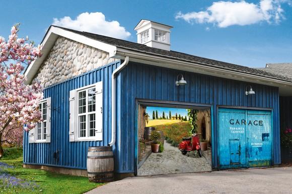 Garagentor Verschönern neues outfit fürs garagentor: mit fotoplanen wird die garage zum