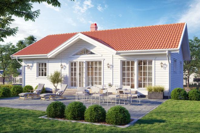 Ein Eigenheim mit schwedischem Flair. Die skandinavische Bauweise steht für Natürlichkeit, Wohlfühlen und hohe Energieeffizienz.
